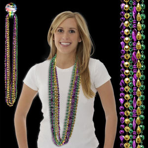 Beaded Mardi Gras necklace,