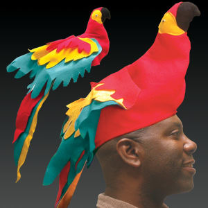 Novelty Parrot hat, blank.
