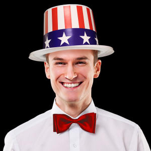 Patriotic top hat, blank.