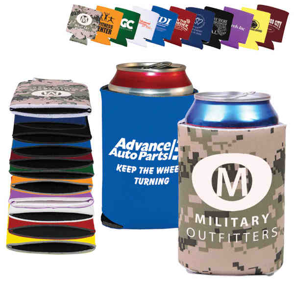 Folding, collapsible can cooler