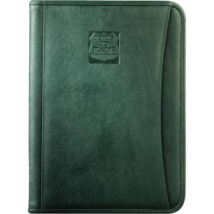 Durahyde zippered padfolio with
