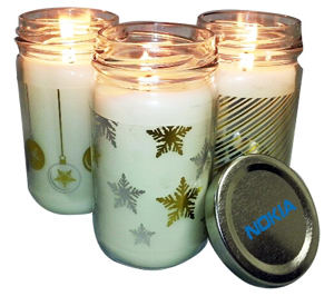 Promotional -holiday candle
