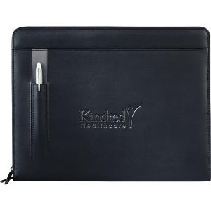 UltraHyde padfolio, zipper closure