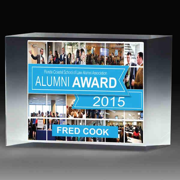 Freestanding acrylic award, 7