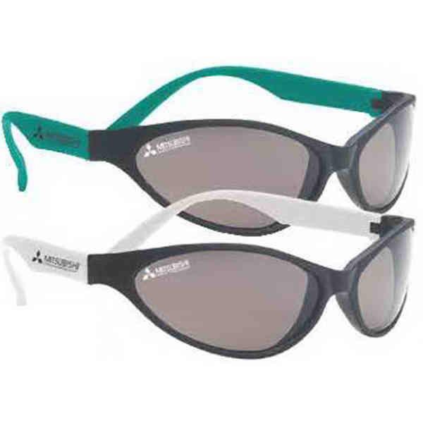 Flexible sunglasses with black