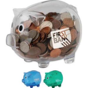 Piggy bank with bottom