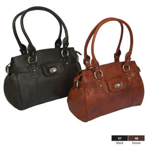 Handbag with large easy