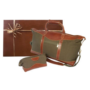 Gift set includes duffle