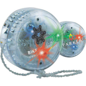 Multicolor crystal lighted yo-yo