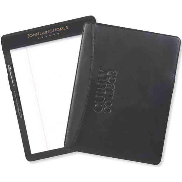 Bonded black leather clipboard