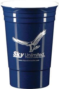 Promotional Drinking Glasses-T-DW11-Dk Blue