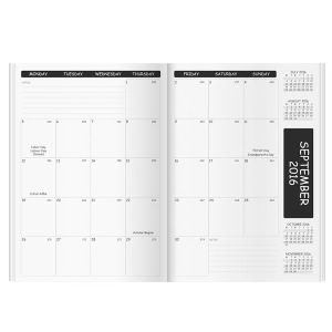 Academic monthly planner refill