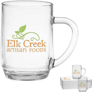 Glass 19 oz mug.