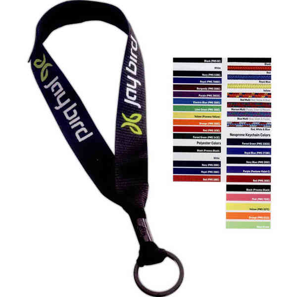 Polyester Keychain with Metal