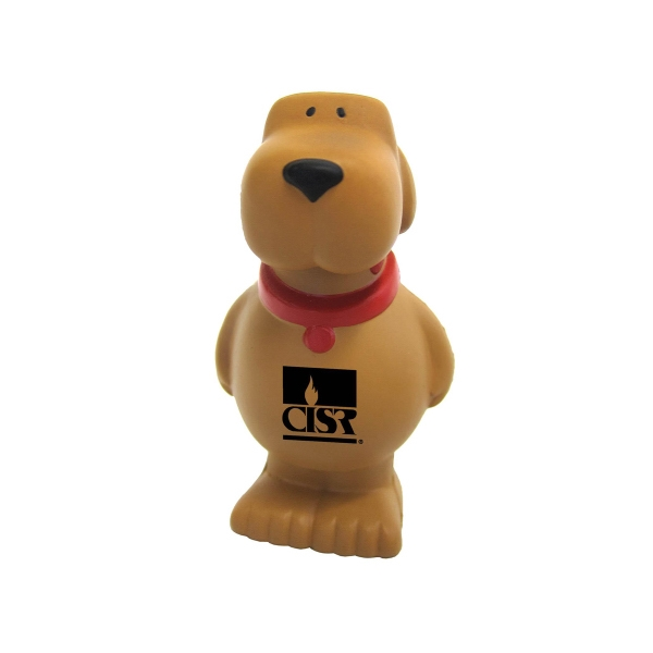 Dog-shaped polyurethane stress reliever