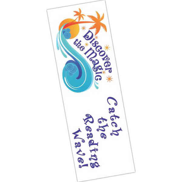 Full color bookmark, .020