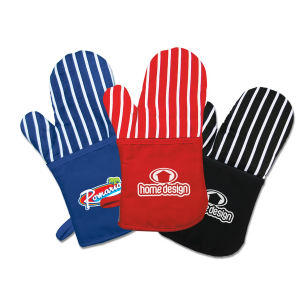 Oven mitt with soft