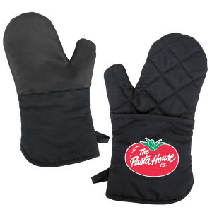 Oven mitt with silicone