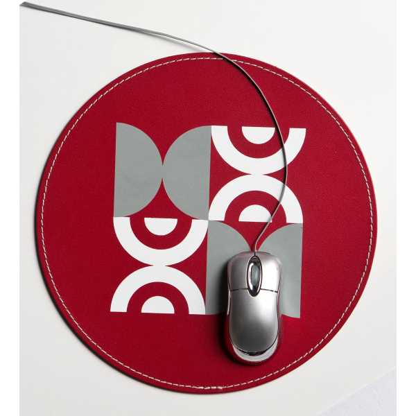 Round leather executive mouse