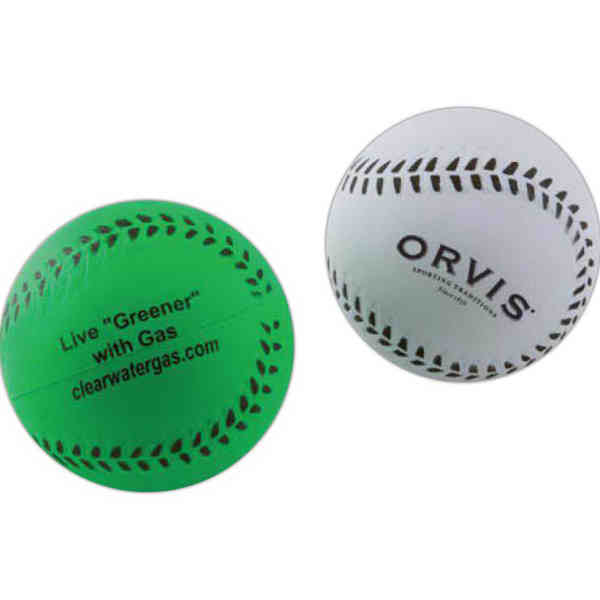 Rubber baseball made from