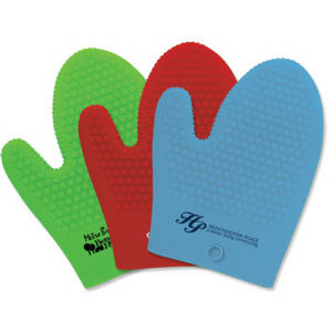 Silicone oven mitt with