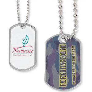 Dog tag keychain with