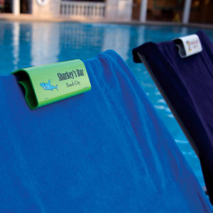 Customizable plastic beach towel
