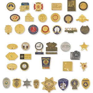 Small badge.