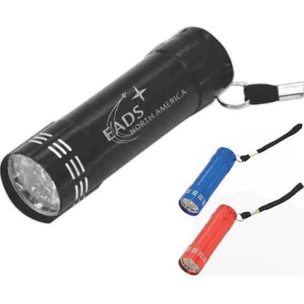 9-LED palm flashlight, with