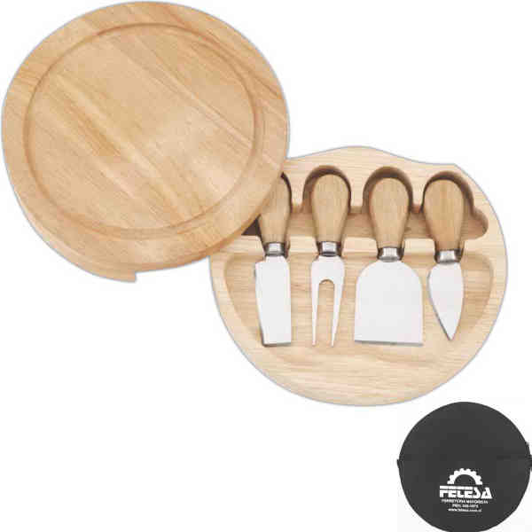 Swivel cheese board set.