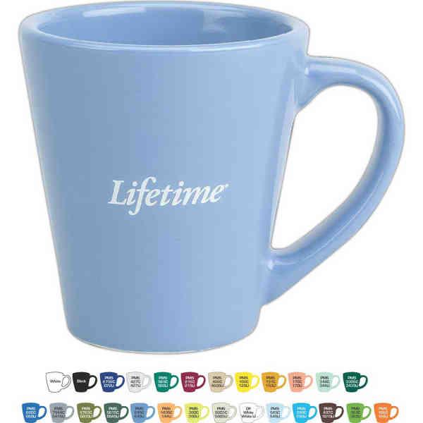 9 oz. ceramic mug.