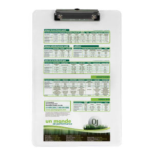 Low profile white clipboard