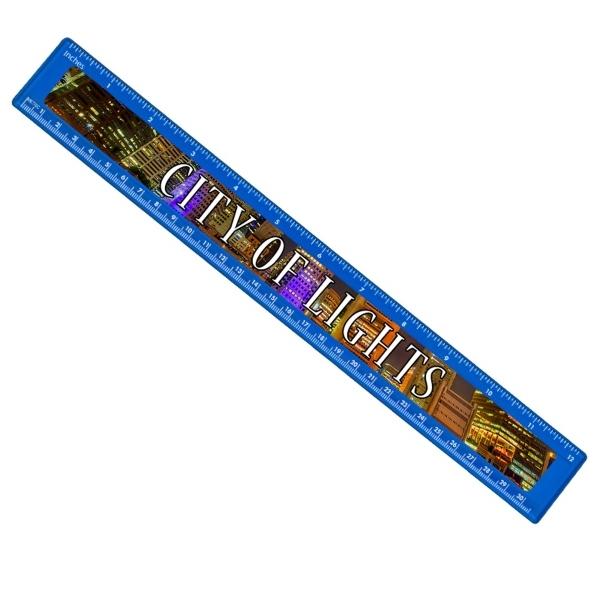 Twelve inch promotional ruler,