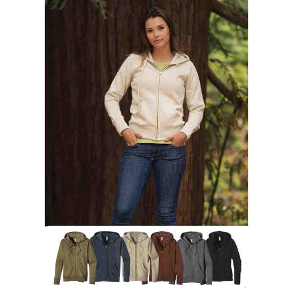 Women's zip hoody sweatshirt