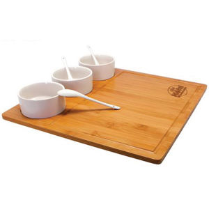Trio bamboo serving tray.