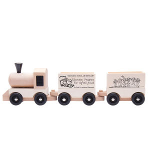 Wooden train set made