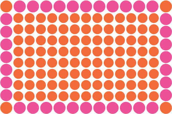 Pink and orange spots