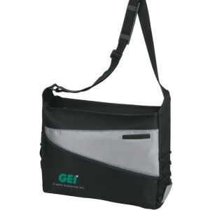 2-Tone Computer Messenger Bag