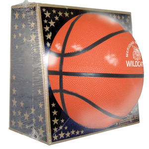 Full size rubber basketball,