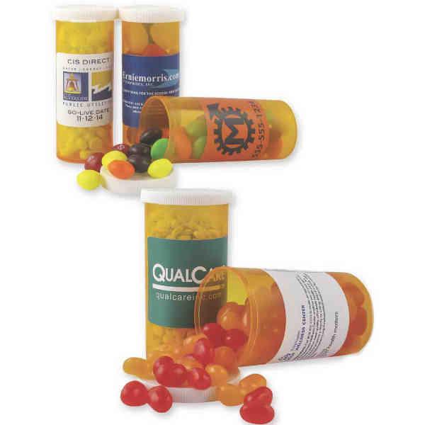 Promo pill bottle filled