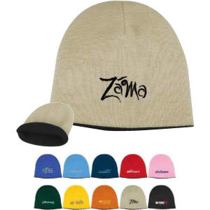 Solid knit cap with