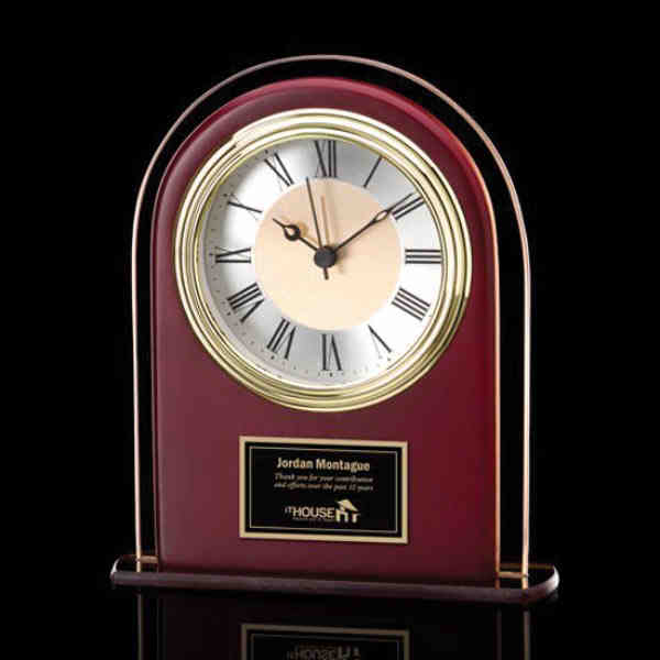Adriana Clock - Sepia/Rosewood