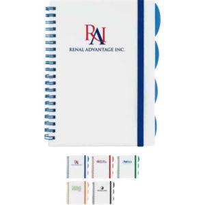 Spiral bound notebook, white