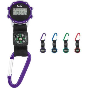 Clip-on watch with compass,