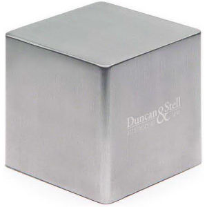 Paperweight, cube shaped.