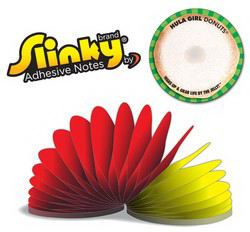 Slinky(R) Adhesive Notes -