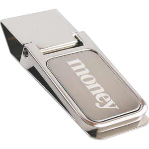 Money clip, brushed stainless