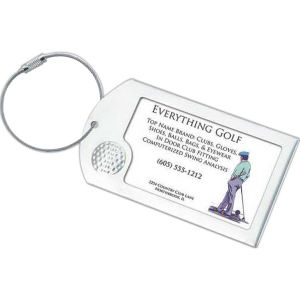 Business card luggage tag,