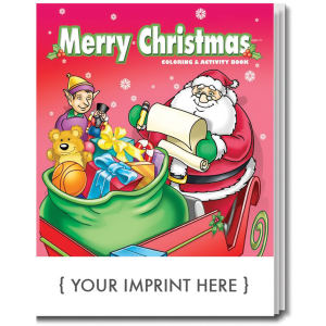 Merry Christmas coloring book.