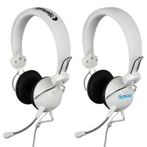 Microphone headset with cushioned